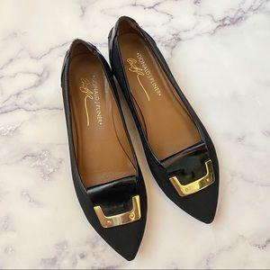 Donald J Pliner Nila Loafer Black and Gold Sz 6.5